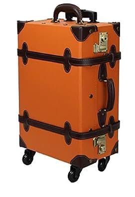 【MOIERG】キャリーバッグ コンビ TSA キャリーケース 4輪 軽量 修学旅行 (S, オレンジ)[81-55035-73]