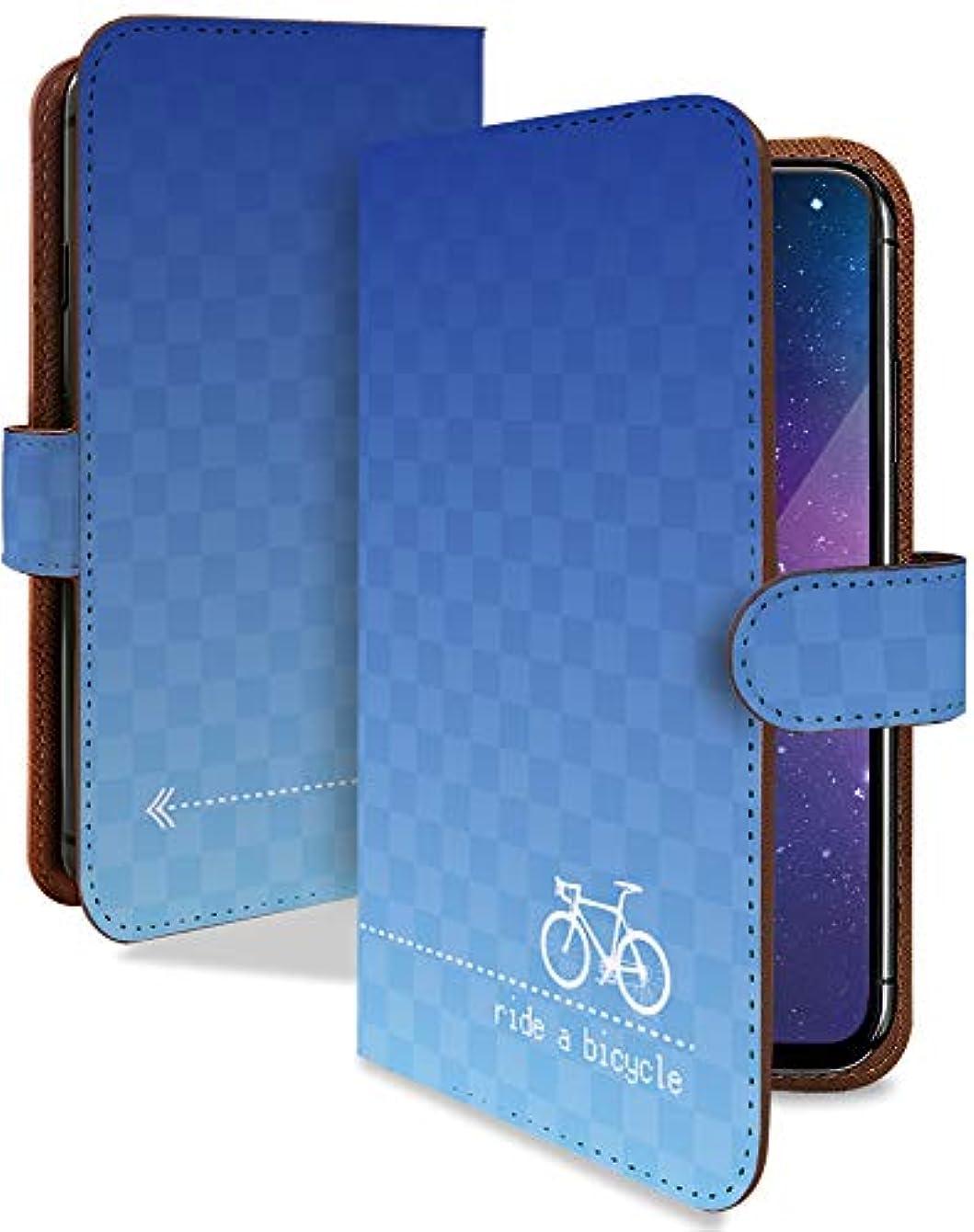 交差点周り匿名Nexus6 ワイモバイル ケース 手帳型 自転車 チャリ 青 グラデーション カラフル スマホケース ネクサス6 手帳 カバー nexus 6 nexus6ケース nexus6カバー シンプル グラデ チェック柄 チェック [自転車 チャリ 青/t0306]