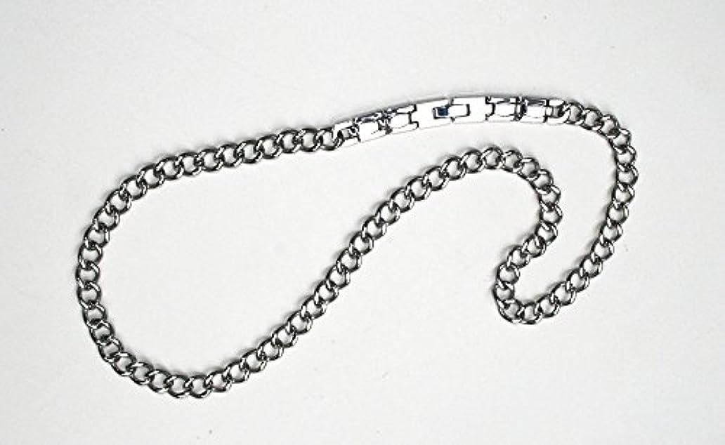 マサッチョ遠近法ロンドン純Ge(ゲルマニウム)装着チタン喜平ネックレス