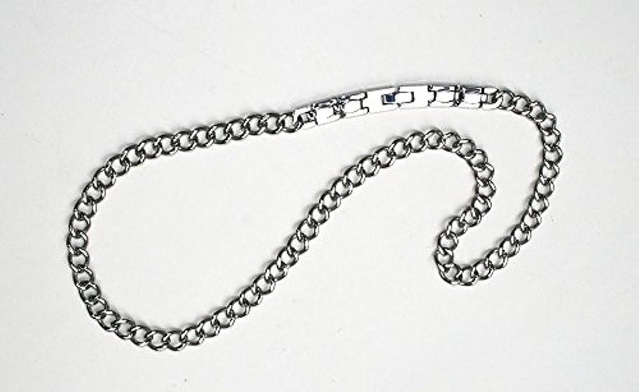 ステンレスほぼ戸棚純Ge(ゲルマニウム)装着チタン喜平ネックレス