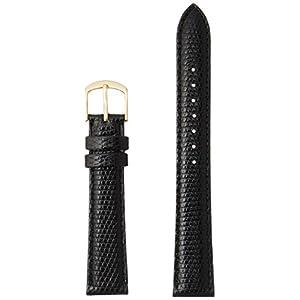[ミモザ]MIMOSA ミモザ時計バンド CMトカゲ(トカゲ皮革/光沢あり) 16mm ブラック TM-A16