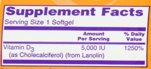ビタミンD-3 5000IU 120ソフトカプセル (海外直送品)