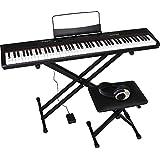 Artesia アルテシア デジタルピアノ (電子ピアノ) セット 88鍵 ベロシティセンシティビティキー PERFORMER/BK ブラック (サスティンペダル/スタンド/椅子/ヘッドフォン付属)