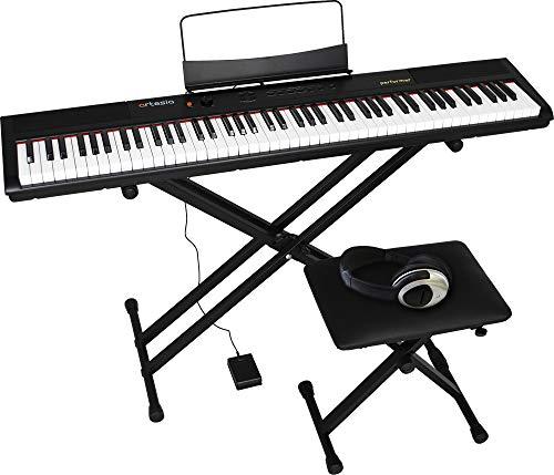 アルテシア(Artesia) デジタルピアノ (電子ピアノ) セット 88鍵 ベロシティセンシティビティキー PERFORMER/BK ブラック (サスティンペダル/スタンド/椅子/ヘッドフォン付属) B07KPM854M 1枚目