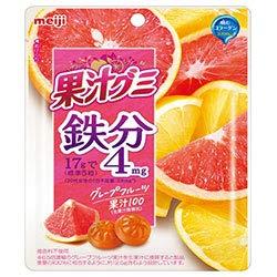 明治 果汁グミ 鉄分グレープフルーツ 68g×8袋入×(2ケース)