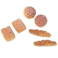 DIY ドールハウス用  1/12サイズ ミニチュア  パン  おもちゃ 6個いり アクセサリー 樹脂製