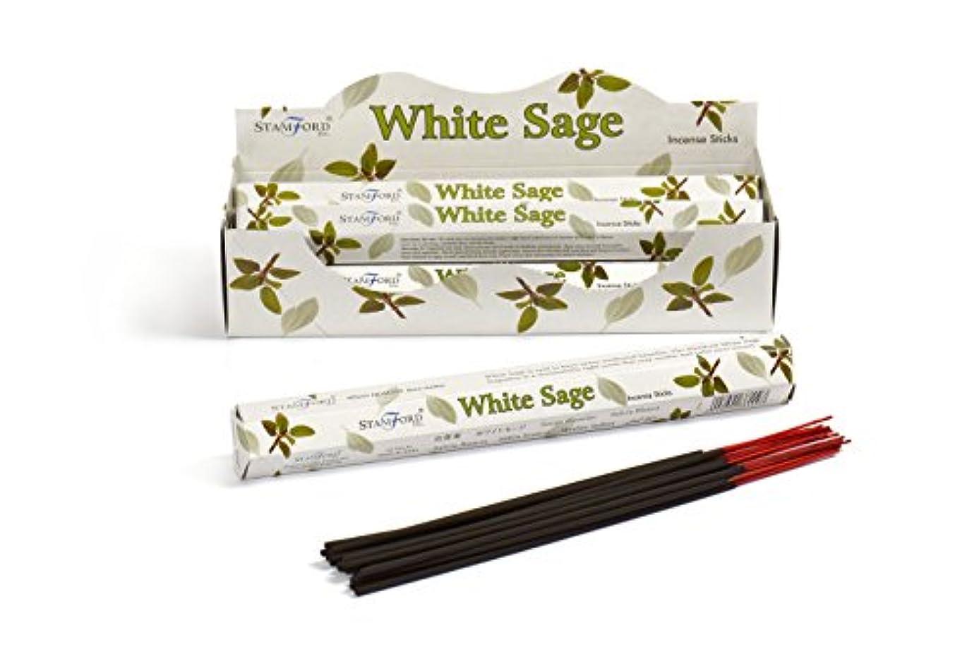 護衛むしゃむしゃ突撃Stamford White Sage Incense, 20 Sticks x 6 Packs by Stamford