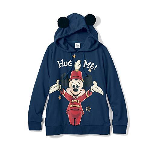 [ベルメゾン] ディズニー ミッキーマウス 90thポンポン付き ハグミー パーカ (レディース) ミッキーマウスクラブ(ネイビー) サイズ:M