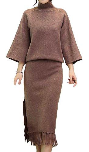 [해외](카나 클레르) Canacreer 스커트 정장 여성 아우터 상하 설치 무릎 길이 꽉 라운드 넥 무지/(Cana Clair) Canacreer skirt suit Women`s outer up and down set up knee high tight round neck solid