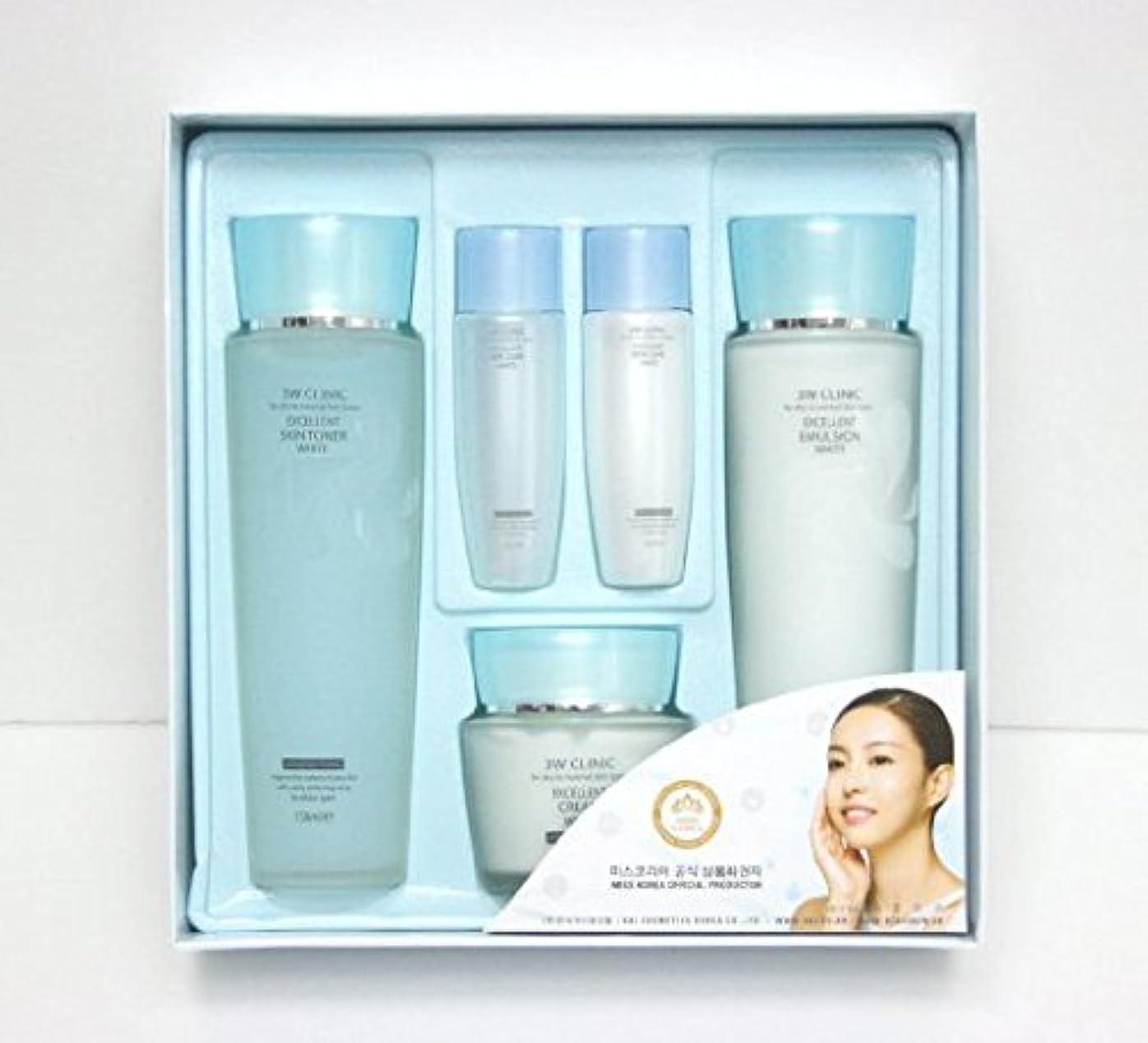 旋回不透明なホット3Wクリニック[韓国コスメ3w Clinic]Excellent White Skin Care set エクセレントホワイトスキンケア3セット,樹液,乳液,クリーム [並行輸入品]
