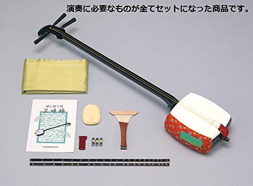SUZUKI スズキ 細棹三味線セット かえで 木製+樹脂製・のべ棹 MS-8