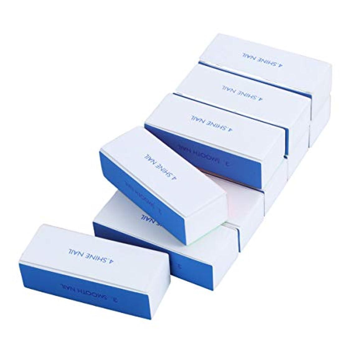 拒否ブルゴーニュ交換ROSENICE 4面ブロックバッファー ネイルシャイン スポンジファイル 10個入り