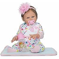 20インチフルボディシリコンガールReborn新生児ベビービニール人形Lifelikeおもちゃwith Magneticおしゃぶり
