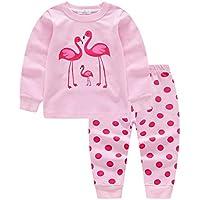 Weixinbuy Baby Boys Girls Pajamas Set Long Sleeve Cotton Nightwear Sleepsuit 2 Pieces Winter Autumn Clothing Set