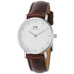 [ダニエル・ウェリントン]DanielWellington 腕時計 Classy Bristol ホワイト文字盤 カーフレザーベルト DW00100070 レディース 【並行輸入品】