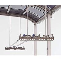 アルミ製竿掛け 吊り下げ式 2本1セット 標準タイプ ブラック テラス 物干し 竿かけ 国内メーカー製 DIY 送料無料