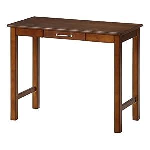 不二貿易 デスク マンチェスター 幅90×奥行45cm 木製 ミディアムブラウン 95784