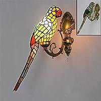 ティファニースタイルの壁ライト屋内鳥屋内壁ランプ現代の壁ライト用リビングルーム寝室ダイニングルーム廊下階段バルコニー、C