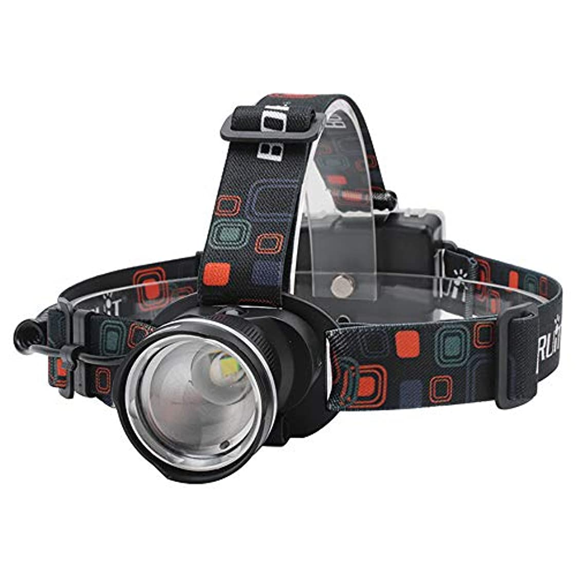 地震軽蔑ライドLEDヘッドライト 防水 超高輝度 1000ルーメン 90°角度調節 ズーム機能付き 単3電池式 釣り/バイク/停電時用