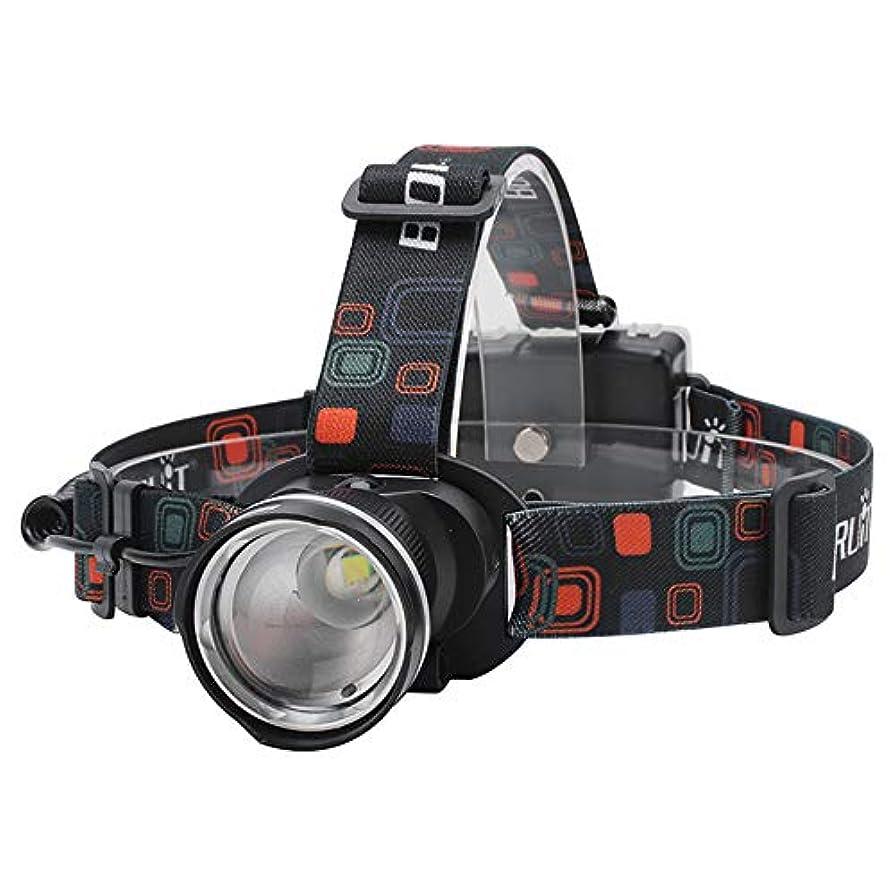 比べる落とし穴光電LEDヘッドライト 防水 超高輝度 1000ルーメン 90°角度調節 ズーム機能付き 単3電池式 釣り/バイク/停電時用