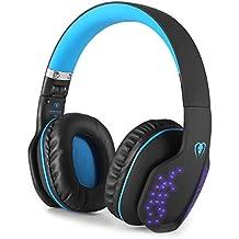 ゲーミング ヘッドセット PS4 Bluetooth 4.1 ワイヤレス ヘッドセット iitrust 折りたたみ 無線と有線両用 伸縮ヘッドアーム 360度調整 連続10時間可能 LEDライト付き 3.5mmコネクタ 日本語取扱説明書 高音質 通話可能 ゲーム用ヘッドホン