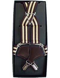 (ノムラ) NOMURA サスペンダー ホルスター 2コース ブラウン×ベージュ 30mm幅 男女兼用 日本製