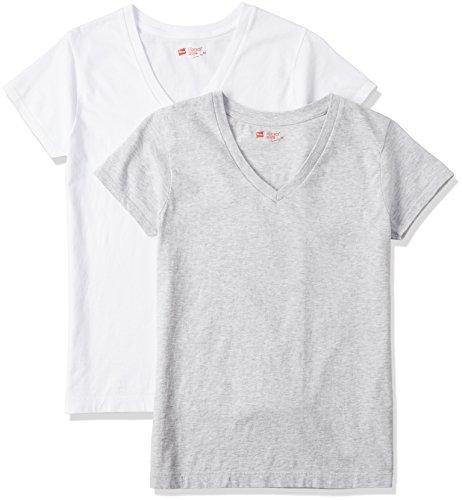 (ヘインズ)Hanes Tシャツ ジャパンフィット FOR HER Vネック 2枚組 アソート HW5125 997 アソート M [レディース]
