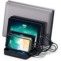 Satechi 7ポート USB 充電ステーション (USB-Cポートx2) (Nexus 5X / 6 , LG G5, HTC 10, OnePlus 3, iPhone, iPad, Samsungなど各種対応) (黒)