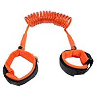 HJ 迷子防止紐 迷子対策 セーフティーハーネス 360度回転 伸縮可能 子供 幼児 安全 事故防止 手首 カット防止 お出かけ用品 (2m, 4個セット)