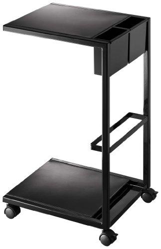 山崎実業 サイドテーブルワゴンタワー ブラック B008GOT49A 1枚目