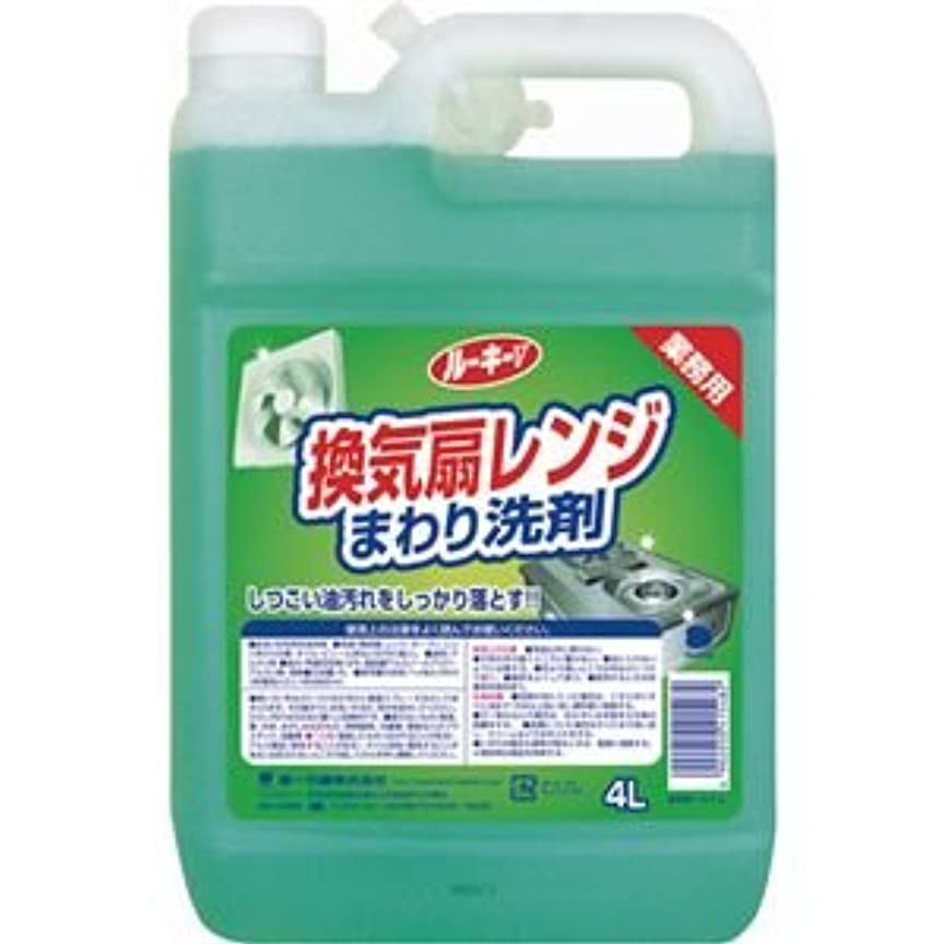 ロック有毒ガム(まとめ) 第一石鹸 ルーキー 換気扇レンジクリーナー 業務用 4L 1本 【×5セット】
