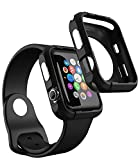 Apple Watch Series 3 ケース (42mm) iDudu Apple Watch Series 3&Apple Watch Series 2&Apple Watch Series 1カバー すべてのアップルウォッチ42mm互換可能 (42mm, ブラック)