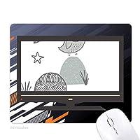 漫画の鳥カゴの草のノルディック柄 ノンスリップラバーマウスパッドはコンピュータゲームのオフィス
