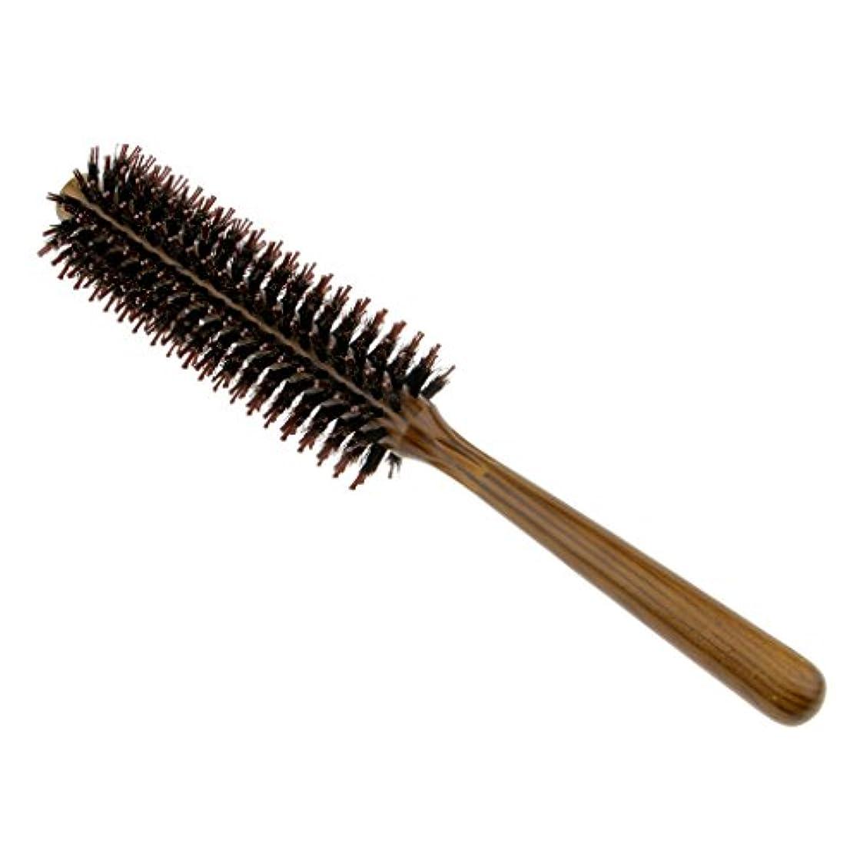 揺れる一時的FutuHome サロン剛毛カーリングヘアラウンドブラシバレルヘアスタイリングコームヘアブラシ - S
