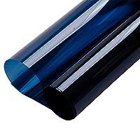 Mr.M ガラスフィルム 窓 ダークブルー 窓ステッカー ウィンドウフィルム 飛散防止 装飾フィルム UVカット 遮光シート 断熱フィルム 遮熱フィルム 152cm*100cm