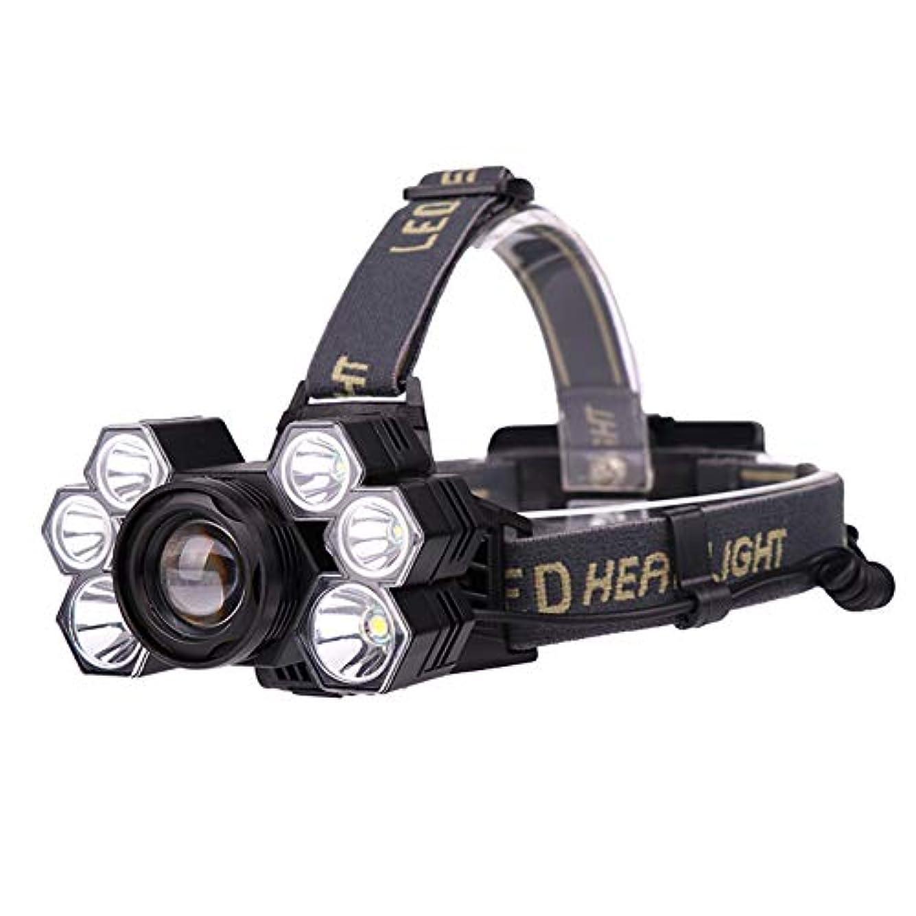 クレーターところでタッチRaiFu ヘッドライト 7 LED 明るい フォーカ スキャンプ ランプ USB充電 ランプ 夜間釣り 屋外活動