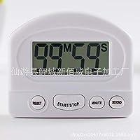 ACHICOO アラーム 大型スクリーン 磁気 LCD デジタル カウントダウン ストップウォッチ スタンド キッチン タイマー付き ホワイト