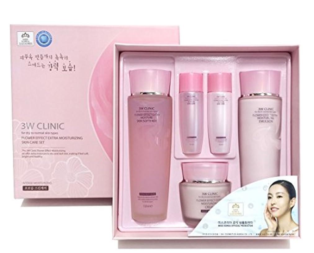 警告する北西ずっと[3W CLINIC] フラワーエフェクトエクストラモイスチャライジングスキンケアセット / Flower Effect Extra Moisturizing Skin Care Set / ヒアルロン酸 / hyaluronic...