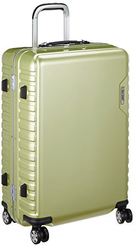 d6dabe743d [エー・エル・アイ] ハードキャリー MAX SMART(マックススマート) 手荷物預け可能サイズ 56L ダイヤル式ロック 静音キャスター 64  cm 4.3kg ライム スーツケースの ...