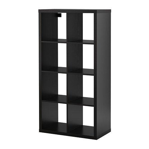 RoomClip商品情報 - IKEA KALLAX シェルフユニット ブラックブラウン 77×147cm 60275893