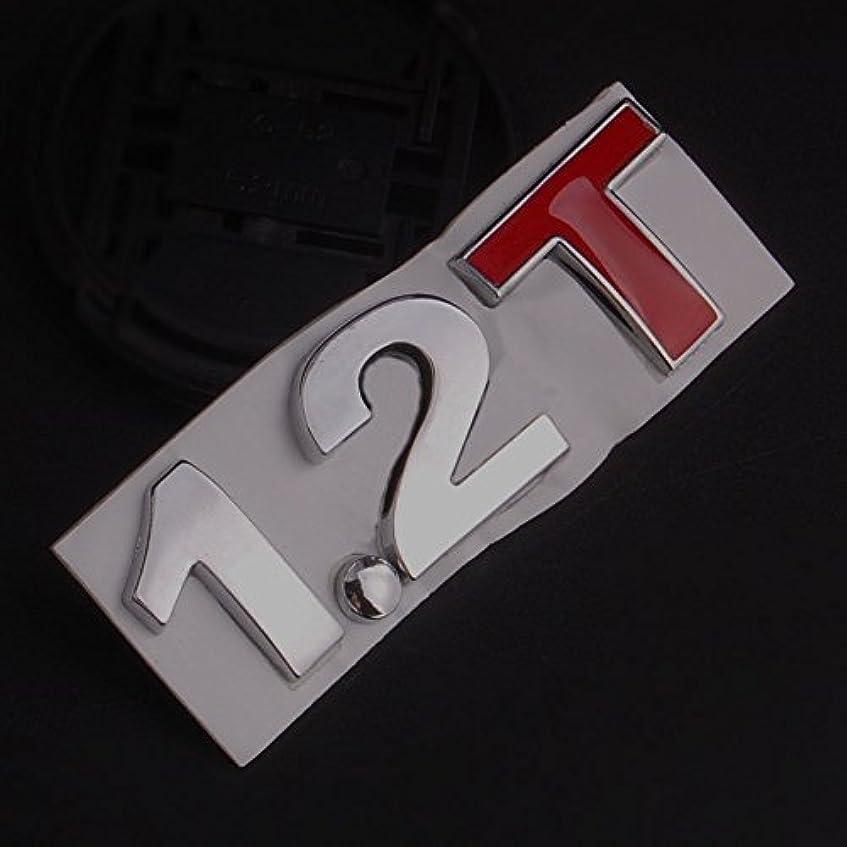 実際マウス速いJicorzo - Metal 1.2T Badge Turbo 2.1T 1.2 T Decal Sticker Car Rear Trunk Emblem Side Stickers Fit For Universal Car
