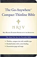NRSV Go-Anywhere Compact Thinline Bible with the Apocrypha (Bonded Leather, Navy by Harper Bibles(2009-09-01)