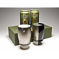 【有田焼ギフトセット】匠の蔵 プレミアムビアグラス 夜桜・銀と黒&プレミアムビール