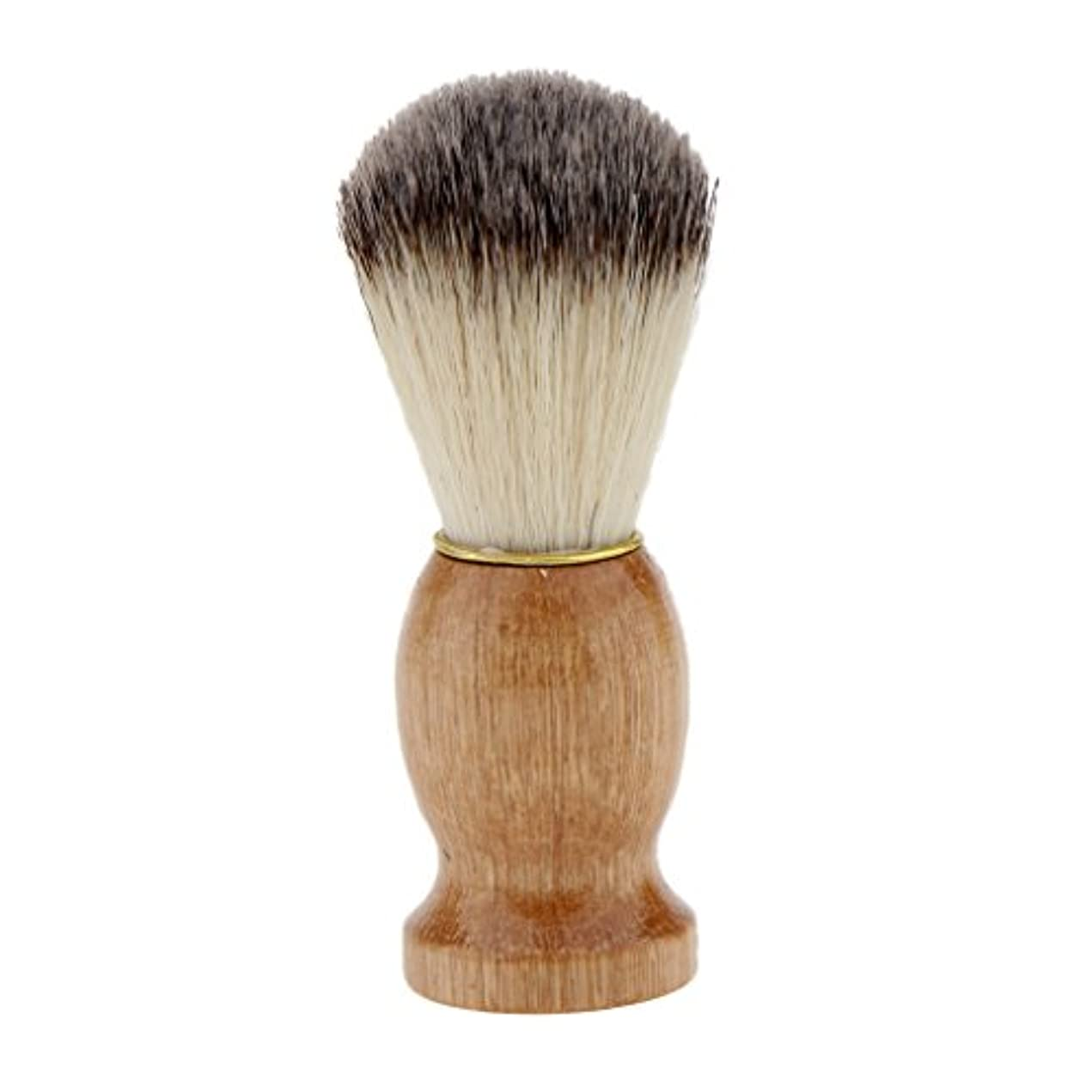 証明状況先住民木のハンドルは、男性のための毛のひげ剃りブラシ毛のひげを切るダストクレンジング