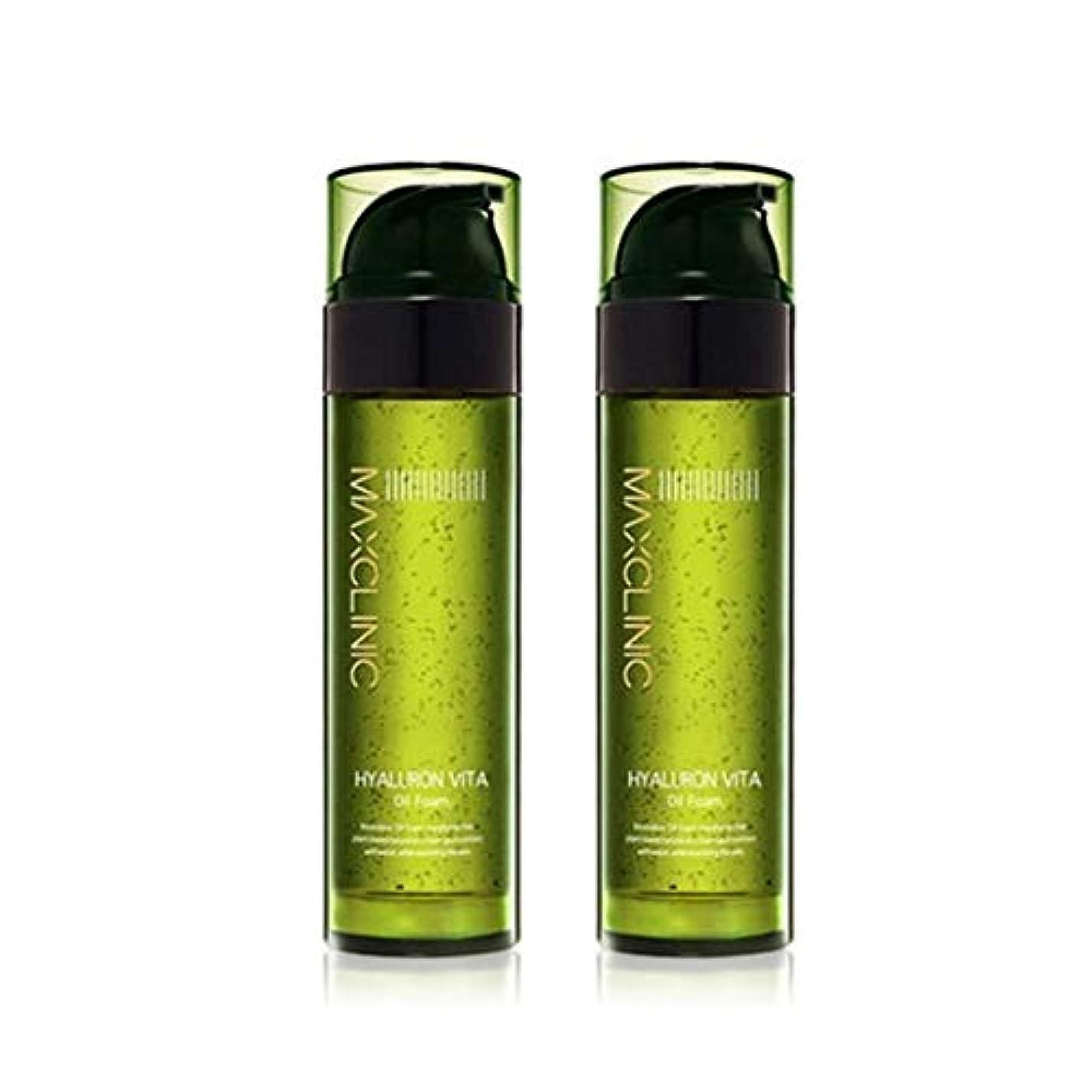 スケジュール電信ぶら下がるマックスクリニックヒアルロンヴィータオイルフォーム110gx2本セット韓国コスメ、Maxclinic Hyaluronic Acid Vita Oil Foam 110g x 2ea Set Korean Cosmetics...