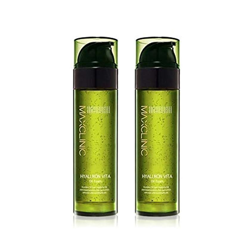 分数説明的興味マックスクリニックヒアルロンヴィータオイルフォーム110gx2本セット韓国コスメ、Maxclinic Hyaluronic Acid Vita Oil Foam 110g x 2ea Set Korean Cosmetics...