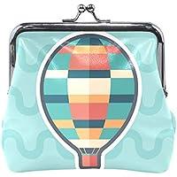 がま口 財布 口金 小銭入れ ポーチ 熱気球 子供 Jiemeil バッグ かわいい 高級レザー レディース プレゼント ほど良いサイズ