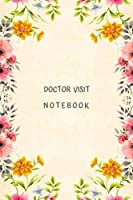 Doctor Visit Notebook: Journal, record book, tracker to help plan and prepare for hospital visit.  Personal medical information organizer for patients, pregnant and sick friend.