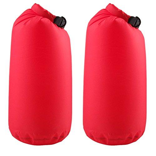ノーブランド品 2個 お買い得 キャンプ フローティング用 10リットル 防水 ロール トップ 圧縮袋...
