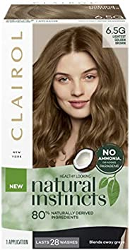 Clairol Natural Instincts Semi-Permanant Hair Colour, 6.5g Lightest Golden Brown, 1 count